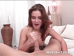 Sloppy spit soaked blowjob from a young hottie tubes
