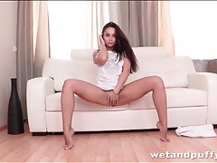 Amazingly hot kristall rush in a sexy striptease tubes