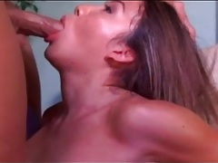 He pulls out of her ass and unloads on her face tubes