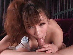 Titjob excites him to get his dick sucked tubes