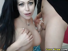 Truly stunning cam babe gives her man a blowjob tubes