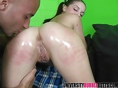 Teenage cutie sucks a big cock sensually tubes