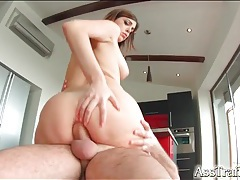 Her perfectly smooth asshole takes a cock tubes