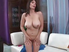 Her juicy milf hole drips from toy fucking tubes
