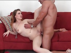 Beauty has her legs wide open for his big cock tubes