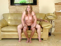 He bangs a horny old babe on his couch tubes
