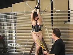 Kinky amateur bondage and whipping of lena tubes
