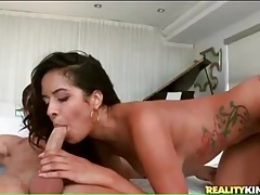 Fit chick fucked in her sexy pierced pussy tubes