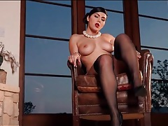 Dazzling vintage lingerie clings to valentina nappi tubes