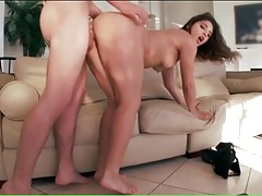Big cock nails a hottie in her bald pussy tubes