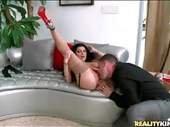 Kissing and licking gorgeous milf romi rain tubes