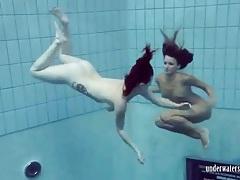 Bikinis comes off as the teen chicks swim tubes