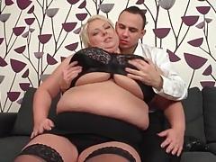 He has fun sucking on her bbw titties tubes
