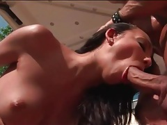 Cock swallowing slut fucked on a golf cart outdoors tubes
