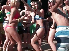 Dance with hot babes on spring break tubes