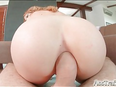 Stunning pov view of big cock fucking her asshole tubes