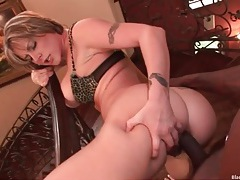 Milf nailed in the booty by a gigantic black cock tubes