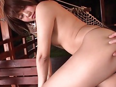 Vibrator play makes her asian pussy soaking wet tubes