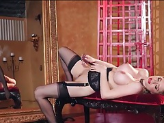 Red lipstick is devastatingly sexy on a buxom babe tubes