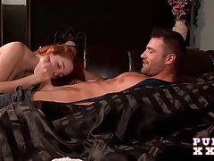 Redhead cheats while her boyfriend is a few feet away tubes