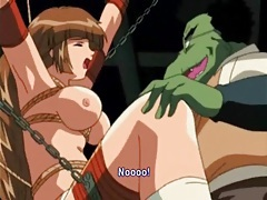 Big cock frog monster fucks a bound hentai honey tubes