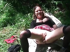 Schoolgirl in the woods for cock in her pussy tubes