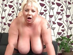 Bbw tits swing with every thrust into her from behind tubes