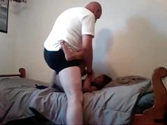 Bald dude fucks his petite girlfriend aggressively tubes