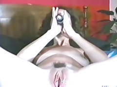 Vintage dildo fucking with a naughty brunette wife tubes