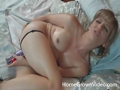 Naughty wife masturbates with a plug up her ass tubes