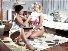Sensual sucking of puffy nipples by hot teen girls tubes