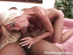 Pierced milf cunt can handle his huge black dick tubes
