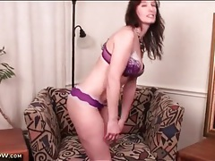 Purple panties are devastatingly sexy on a milf tubes