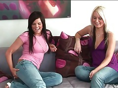 Lesbian chick convinces her friend to have hot sex tubes