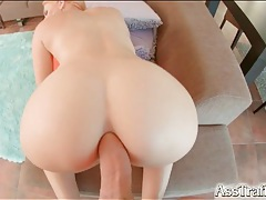 Big dick fills the smooth ass of a sexy redhead tubes