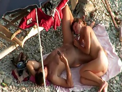 Beach blowjob caught by a naughty voyeur tubes