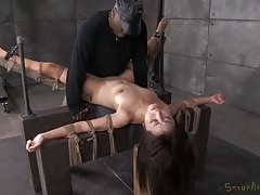 Rope bound marica hase fucked by a black cock tubes