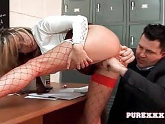 Schoolgirl with big sexy tits fucked by her teacher tubes