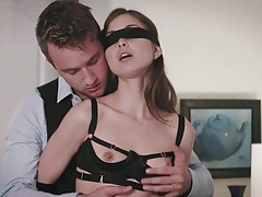 Kinky blindfolded foreplay with lingerie babe riley reid tubes