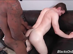 Sweet white boy loves black cock up his ass tubes