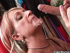 Granny gets a facial tubes