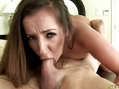 Richelle ryan eats cum through a straw tubes