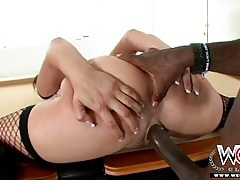 Bbc whore tory lane bent over a pool table and pounded tubes