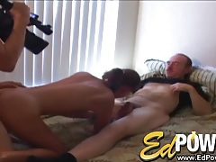 Girl gives a condom bj and takes cock from behind tubes