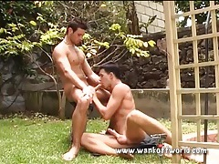Anal in the garden with hard body guys tubes