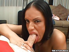 He gets head from a naughty girl and her hot mouth tubes