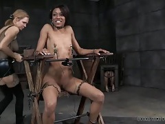 Her nipple pain is real in a dungeon session tubes
