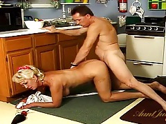 He fucks a big tits housewife from behind tubes