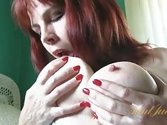 Mature redhead cinna page sucks her tits and masturbates tubes