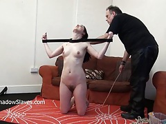 Tied slave honesty cabellero whipped tubes